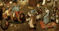 Pieter Brueghel, Carnival on the left and Lent on the right
