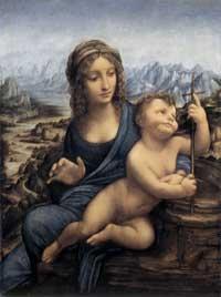 Leonardo da Vinci, Mary and Jesus (ca. 1501 AD)