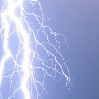 A bolt of lightning in the sky
