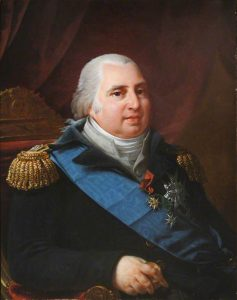 Louis XVIII - a fat old white man in a fancy military outfit