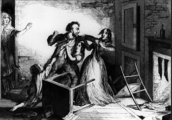 A man beating his wife (1840)