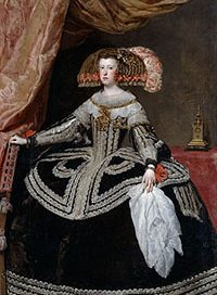 Mariana of Austria, Queen of Spain(by Velazquez, ca. 1652)