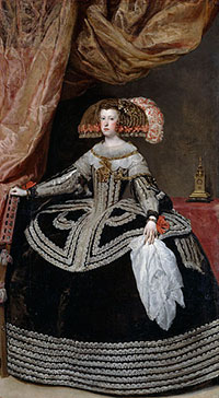 Mariana of Austria, Queen of Spain (by Velazquez, ca. 1652)