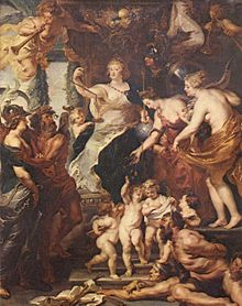 The Happy Regency of Marie de Medici, by Rubens