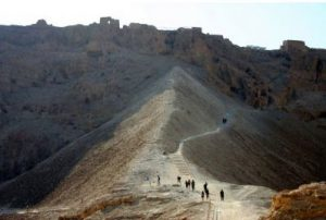 Earth ramp to the fortress at Masada