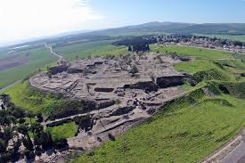 The ruins of the city of Megiddo, where Josiah tried to fight off the