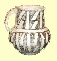 Pueblo pottery, about 850 AD