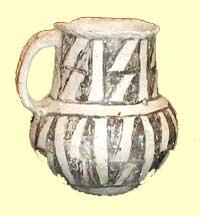 Pueblo pottery, about850 AD