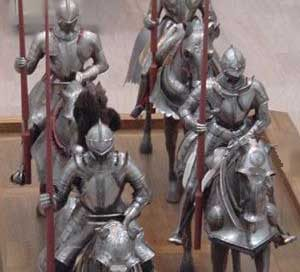 Medieval knights in the Metropolitan Museum of Art