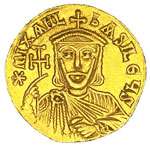 Michael II on a gold coin