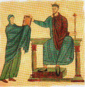 Mieszko II of Poland in a medieval painting