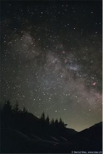 A starry sky with the Milky Way galaxy(thanks to Bernd Nies)