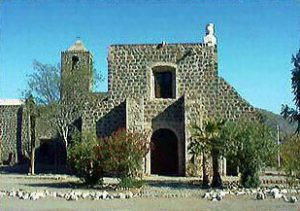 Mision Santa Rosalia de Mulege, Mexico, built by Jesuits in 1766