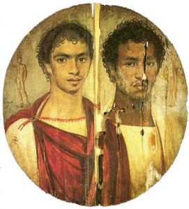 An Egyptian portrait of two brothers (Roman period, about 150 AD)