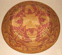 Navajo basket in red and yellow