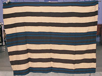 Navajo blanket for people to wear (ca. 1800)