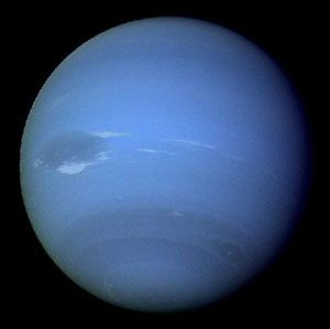 Neptune from space: A big blue ball