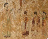 Nestorian procession in Gaochang, China (600-800 AD)