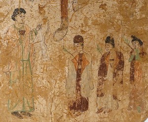 Nestorian procession in Gaochang, China (600-800 AD)