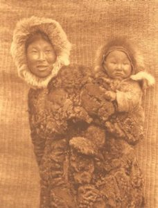 Inuit mother and child