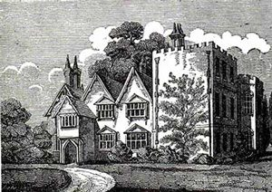 Masham's house, a solid English house with a castle tower