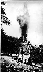 Early Oil Rig in Virginia