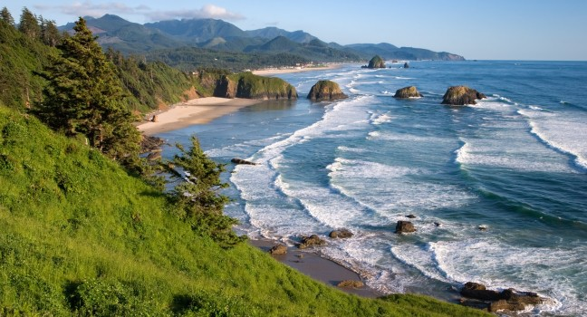 The Oregon coast near Cannon Beach