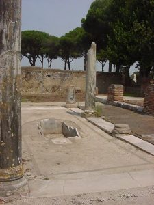 Roman peristyle from Ostia