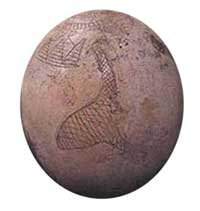 Ostrich egg from Sudan, ca. 4400 BC