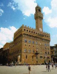 Palazzo Vecchio, where Florence's government met (Florence, Italy, 1200s AD)