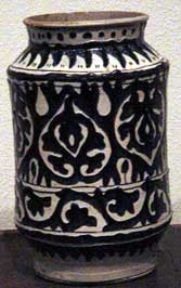 Italian pharmacy jar, about 1400 AD (Metropolitan Museum, New York)