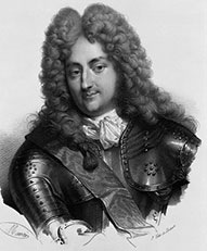 Philippe II d'Orleans, regent for Louis XV - a white man in a curly dark wig