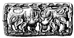 A drawing of a Hunnic plaque