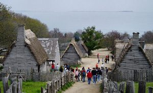Reconstructed houses at Plimoth Plantation, MA