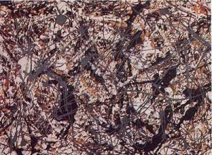 Jackson Pollock painting influenced by Native American sand painting