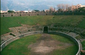 The amphitheater in Pompeii
