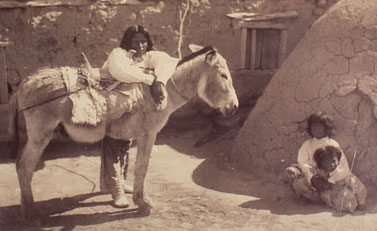 A Pueblo family in 1885 (Detroit Publishing Company)
