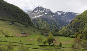Pyrenees mountains between France and Spain