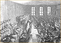 A Quaker meeting in the 1700s