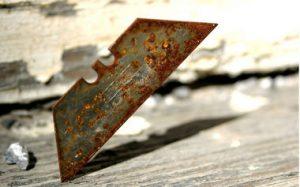 Rusty razor blade
