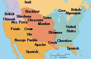 A map showing Native people