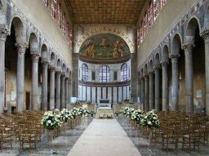 Inside Santa Sabina basilica in Rome (400s AD)