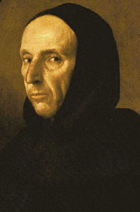 Savonarola - a white man in a black hood