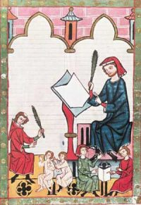 Clerks in the Manessa Codex (1300 AD)