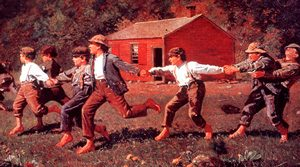 American boys at school (1800s) - American clothing - 1800s