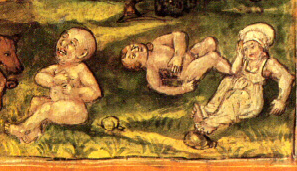 Sick children from medieval Europe