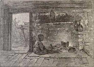 Inside a slave cabin
