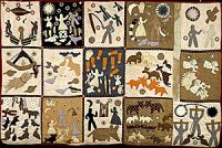 A quilt made by enslaved African-Americans (1800s)