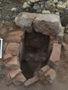 A Slavic furnace: an oval pit lined with reddish stones - Where did the Slavs come from?