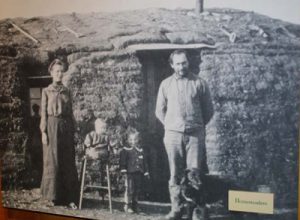 A sod house from the late 1800s